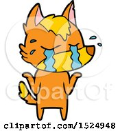 Cartoon Sasd Little Fox