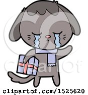 Cartoon Crying Dog