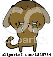 Cute Puppy Crying Cartoon