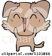 Happy Little Dog Cartoon