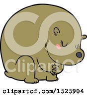 Shy Cartoon Bear