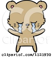March 15th, 2018: Cartoon Bear Crying by lineartestpilot