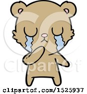 March 16th, 2018: Cartoon Bear Crying by lineartestpilot