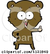 March 16th, 2018: Cartoon Bear by lineartestpilot