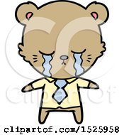Cartoon Business Bear Crying