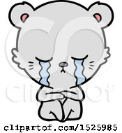 March 17th, 2018: Cartoon Bear Crying by lineartestpilot