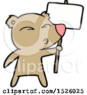 March 17th, 2018: Cartoon Bear With Protest Sign by lineartestpilot