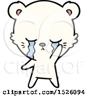 Crying Cartoon Polar Bear