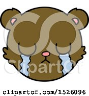 Cute Cartoon Teddy Bear Face Crying