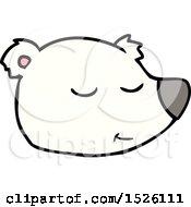 Cartoon Polar Bear Face
