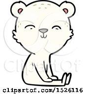 Happy Cartoon Polar Bear Sitting