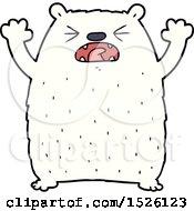 Cartoon Polar Bear Roaring