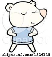 Happy Cartoon Polar Bear