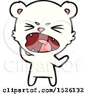Angry Polar Bear Cartoon