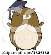 Cartoon Graduate Bear