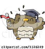 Cartoon Owl Graduate