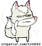 Poster, Art Print Of Cartoon Annoyed Wolf