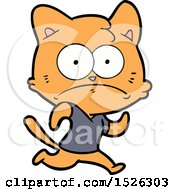 Cartoon Nervous Cat