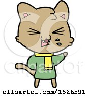 March 15th, 2018: Cartoon Hissing Cat by lineartestpilot