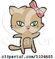 March 17th, 2018: Cute Cartoon Cat by lineartestpilot