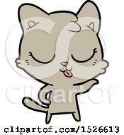 March 17th, 2018: Happy Cartoon Cat by lineartestpilot