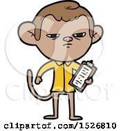 Cartoon Annoyed Monkey Boss