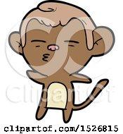 Cartoon Suspicious Monkey