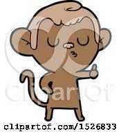 Cartoon Calm Monkey