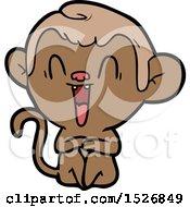 Cartoon Laughing Monkey
