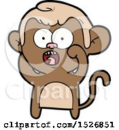 Cartoon Shocked Monkey