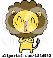 Happy Cartoon Lion