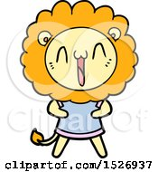 Happy Cartoon Lion