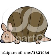 Cartoon Armadillo by lineartestpilot