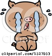 Crying Pig Cartoon