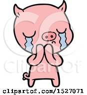Cartoon Pig Crying