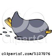 Cartoon Sliding Penguin