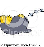 Cartoon Sleeping Penguin
