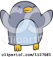 Cartoon Penguin Jumping For Joy