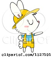Cartoon Rabbit Gardener