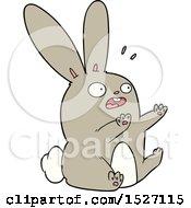 Cartoon Startled Rabbit