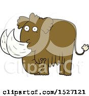 Cartoon Mammoth by lineartestpilot