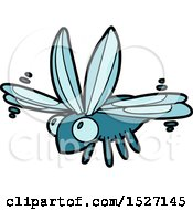 Cute Cartoon Bug Flying