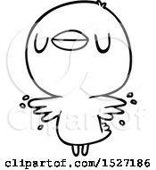Cartoon Chick Flapping Wings