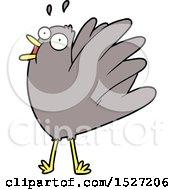 Cartoon Bird Squawking
