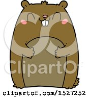 Cartoon Happy Gopher