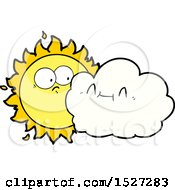 Cute Cartoon Cloud And Sun