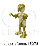 Person With Their Arms Out Covered In Toxic Waste And Walking Like A Zombie Or A Swamp Monster Clipart Illustration Image