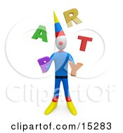 Party Clown Juggling The Word Party Clipart Illustration Image