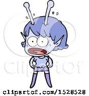 Poster, Art Print Of Cartoon Shocked Alien Girl