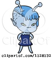 Poster, Art Print Of Cute Cartoon Alien Girl